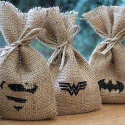 Rustic Superhero Wedding Favours