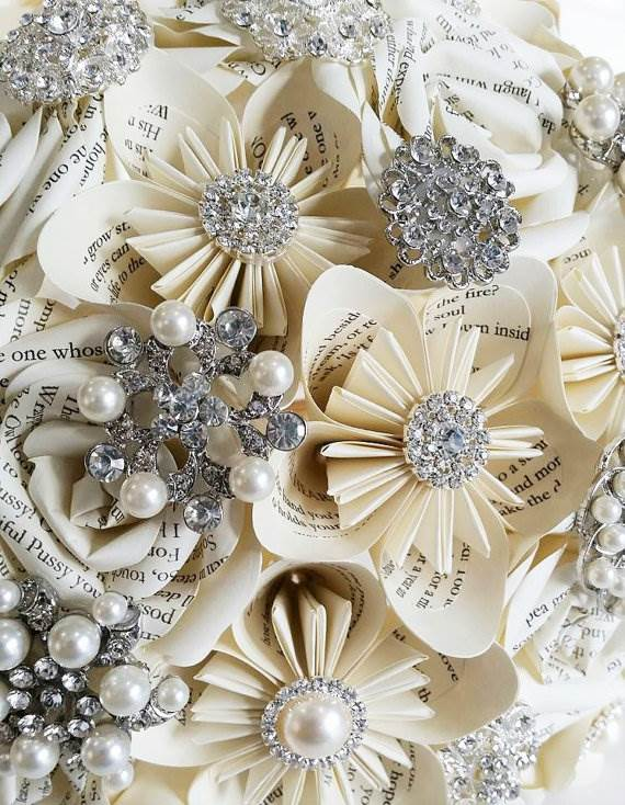 Book & Brooch Bouquet