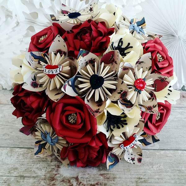 Rockabilly alternative wedding bouquet