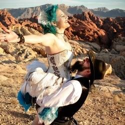 A Perfect Dress For Nicole & Ron's Steampunk Wedding!