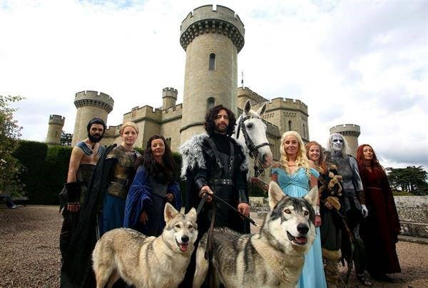 Game Of Thrones wedding party at Eastnor Castle