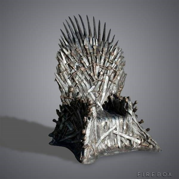 Life size fibreglass replica of the Iron Throne from the TV series