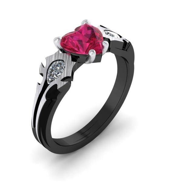 World of Warcraft 'Horde My Love' ring from Paul Michael Design | Misfit Wedding