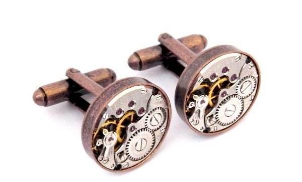 Jamlincrow - Steampunk Watch Movement Cufflinks