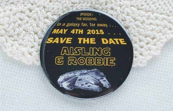 Love Me Do Designs - Star Wars save the date magnet