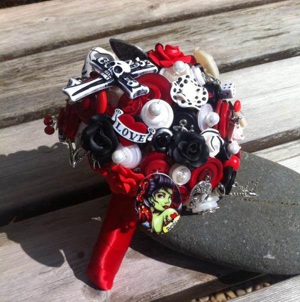 RubyDoodles Jewellery - Rockabilly Tattoo Bouquet
