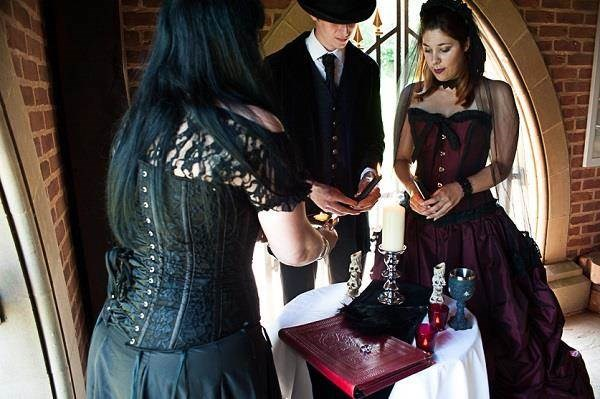 Gothic wedding ceremony