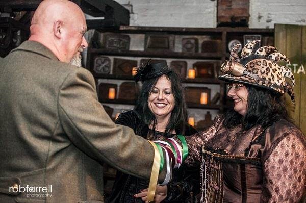 Steampunk handfasting ceremony