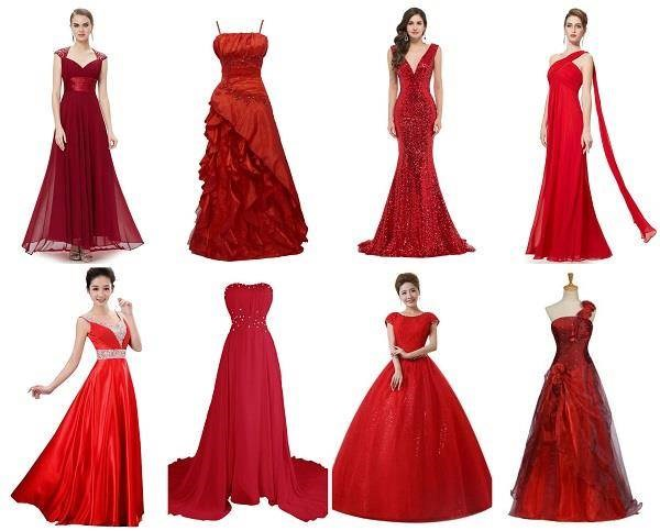 Red wedding dresses on Amazon
