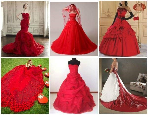 Red wedding dresses on eBay
