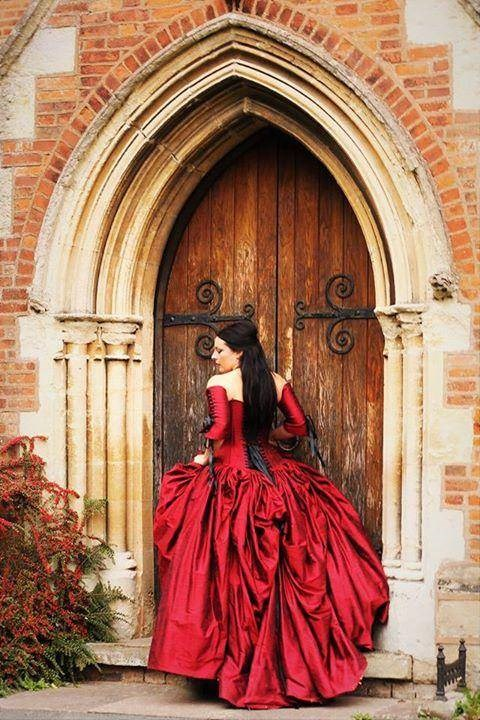 Red wedding dress by Uptight Clothing