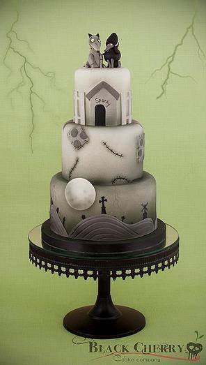 Frankenweenie cake by Black Cherry Cake Company