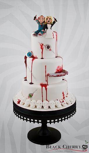Bride of Chucky cake from Black Cherry Cake Company