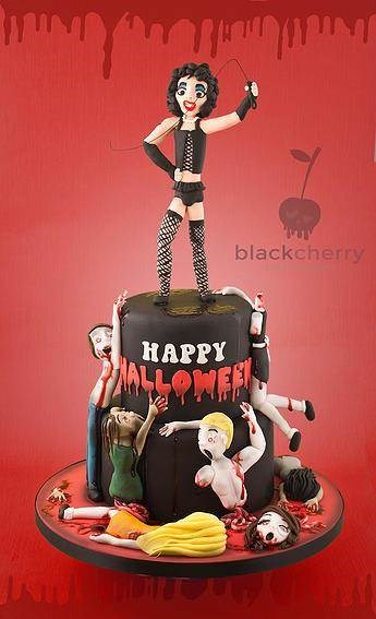 Happy Halloween! Rocky Horror Picture Show cake by Black Cherry Cake Company