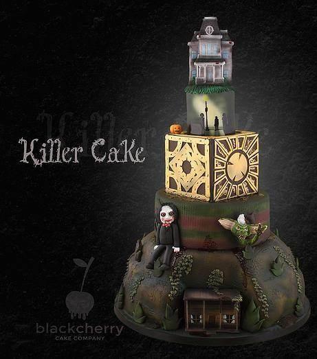 Horror film cake by Black Cherry Cake Company