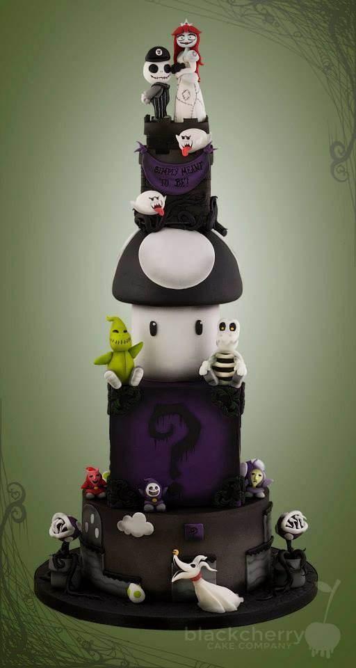 Tim Burton meets Super Mario cake made by Black Cherry Cake Company