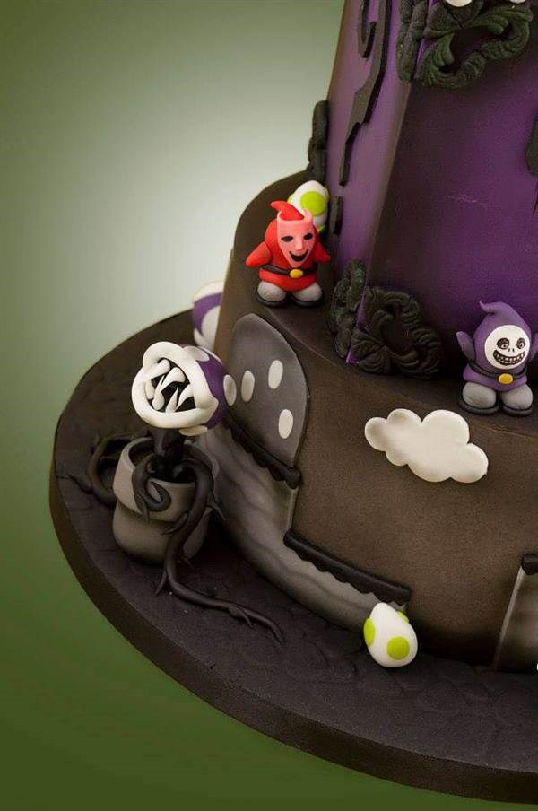 Mario and Nightmare Before Christmas cake by Black Cherry Cake Company