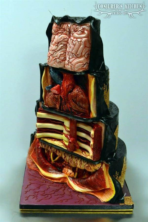 Anotomical edible art by Conjurer's Kitchen