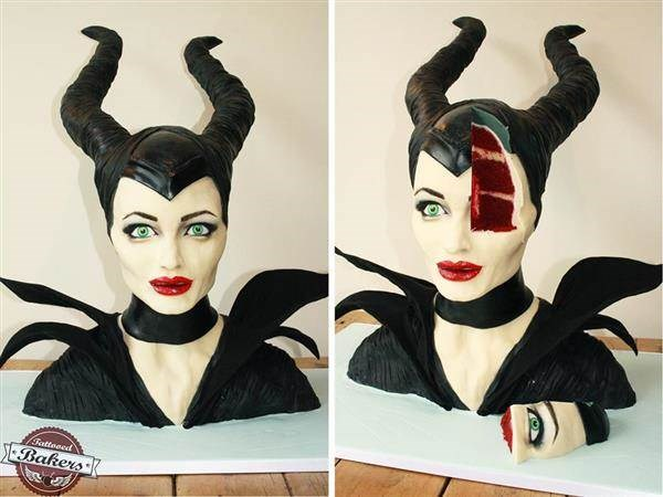 Maleficent cake by Tattooed Bakers