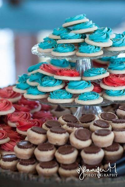 Colourful bites to eat at a carnival wedding