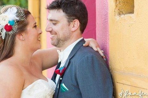 Newly married couple happy to be in love