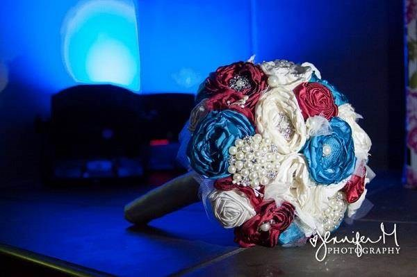 Red, white & blue bridal bouquet
