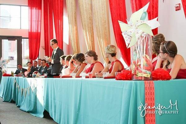 Head table, carnival wedding