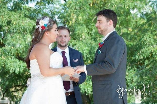 Exchanging wedding vows