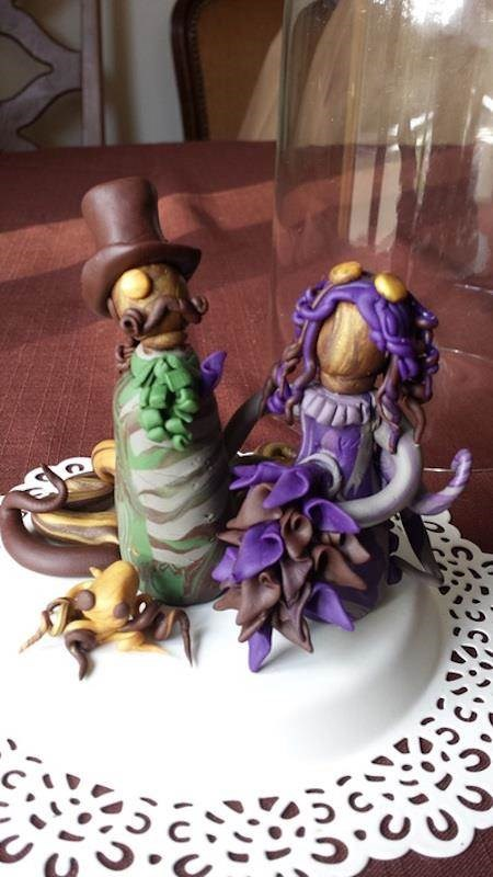 Steampunk cake toppers