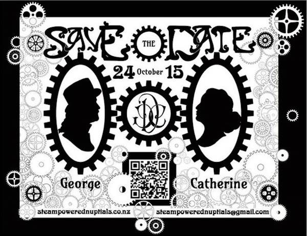 Steampunk Save The Date Artwork