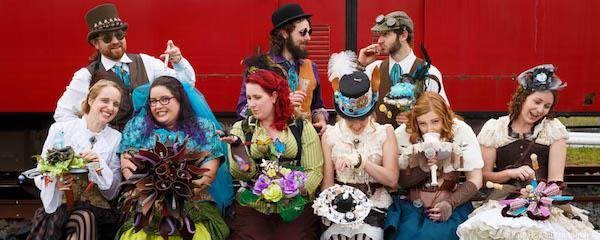 Steampunk wedding bouquets