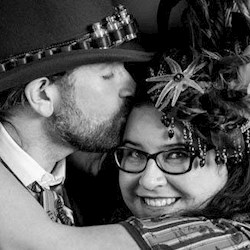 Cat and George's DIY Steampunk Wedding