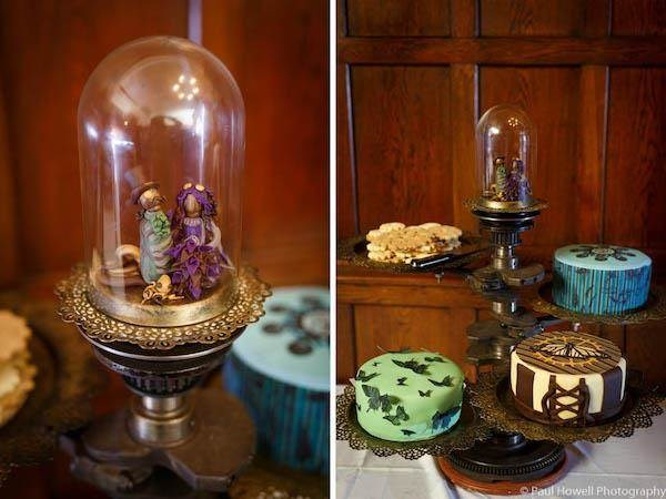 Steampunk wedding cakes