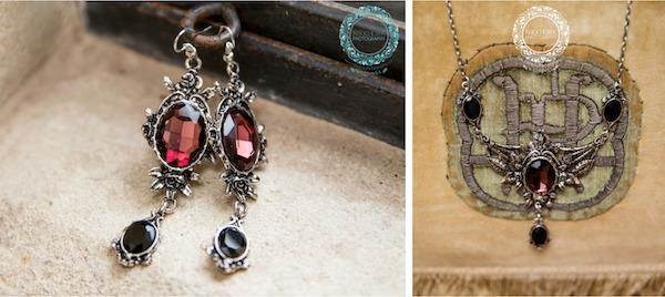 Wedding jewellery for a Gothic bride.