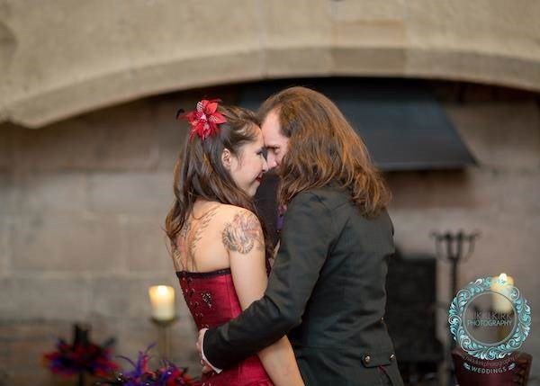 Gothic wedding at Thornbury castle.