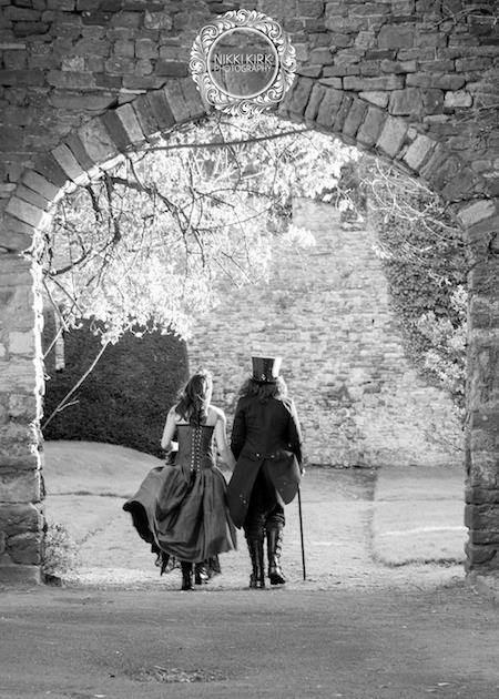 Atmospheric Gothic wedding photo by Nikki Kirk.