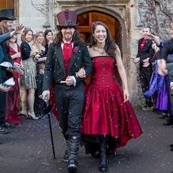 Aimee and David's Gothic Wedding at Thornbury Castle