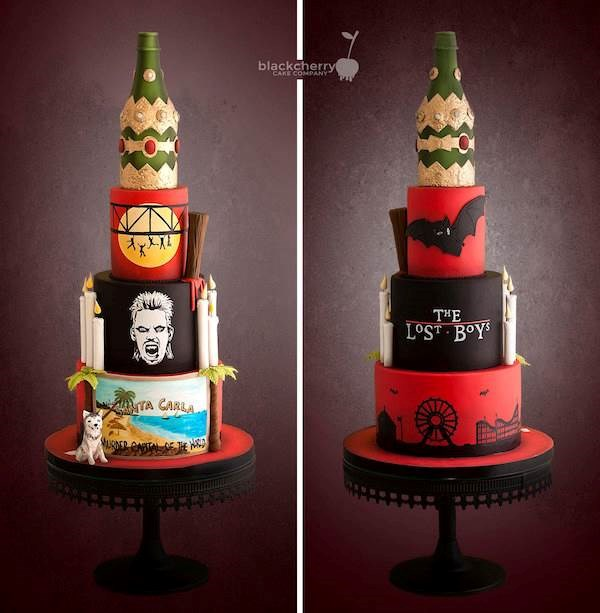 The Lost Boys wedding cake by Black Cherry Cake Company