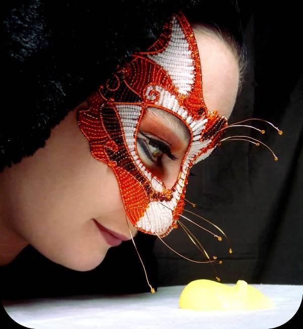 Ginger Cat Masquerade Mask