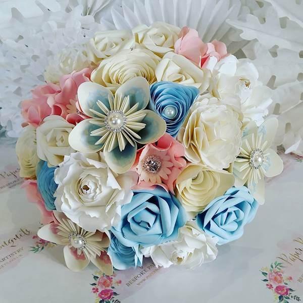 Pastel Paper Wedding Bouquet