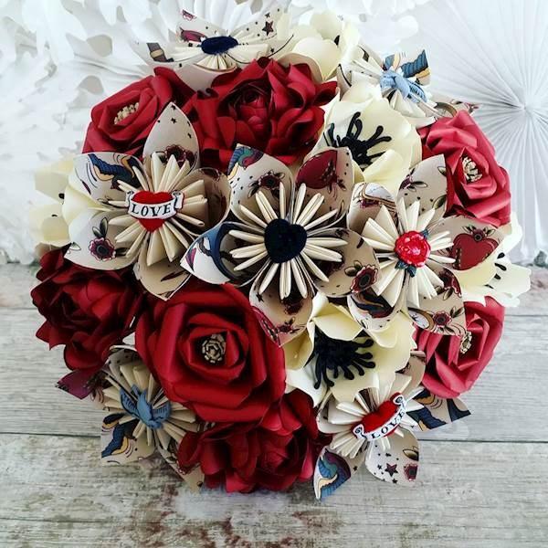 Rockabilly alternative wedding bouquet