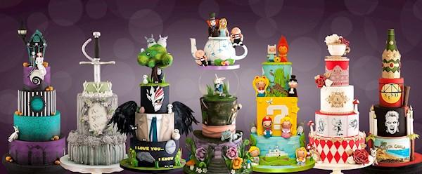 Alternative wedding cakes from Black Cherry Cake Company | Misfit Wedding