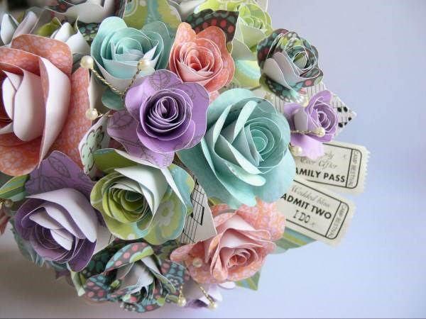 Ticket to happiness, summer bridal bouquet.