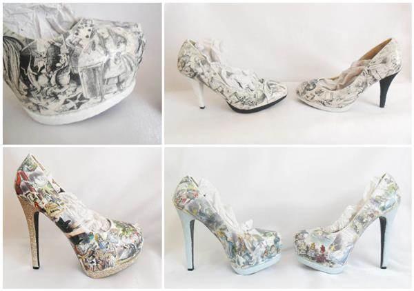 Alice In Wonderland bridal shoes.