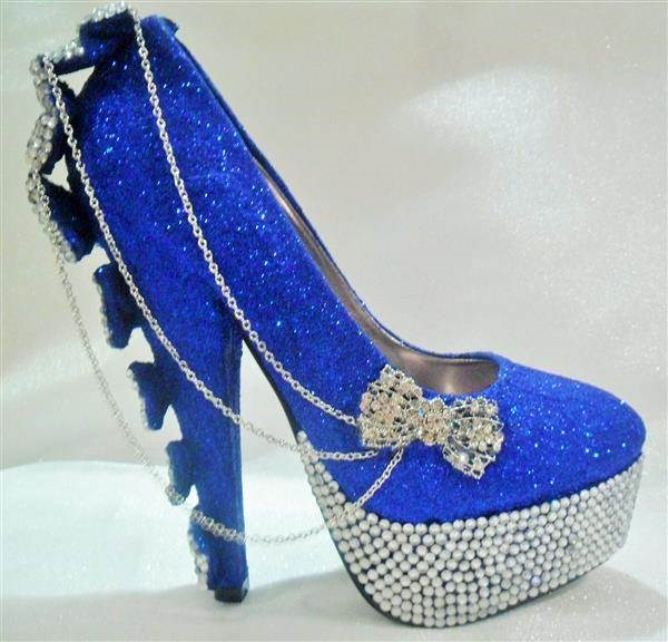 Blinged to the max! These are definitely eye-catching shoes.
