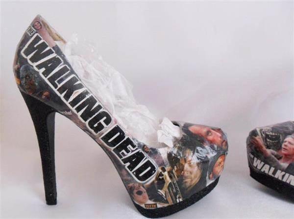 Walking Dead decoupage high heels.