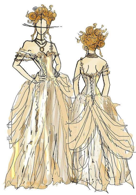 Lyndsey can create superb illustrations to help brides visualise their dress.