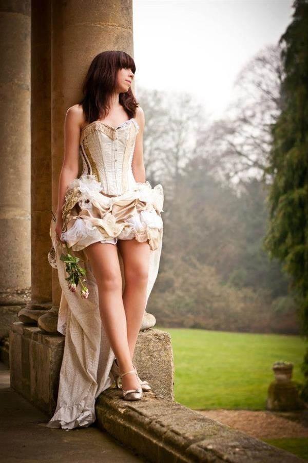 Steampunk wedding dress / corset