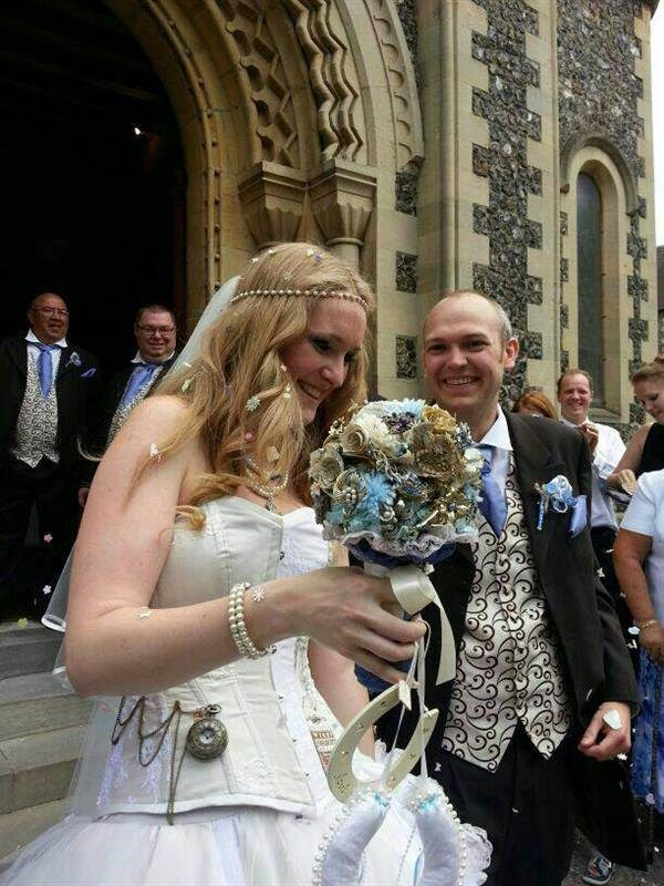 Alice in Wonderland wedding dress.