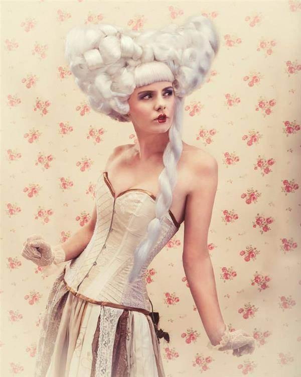 Baroque doll, steampunk / gypsy wedding dress.